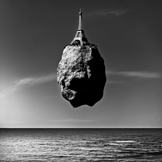 """Levitation"" by Giuseppe Lo Schiavo -collage"
