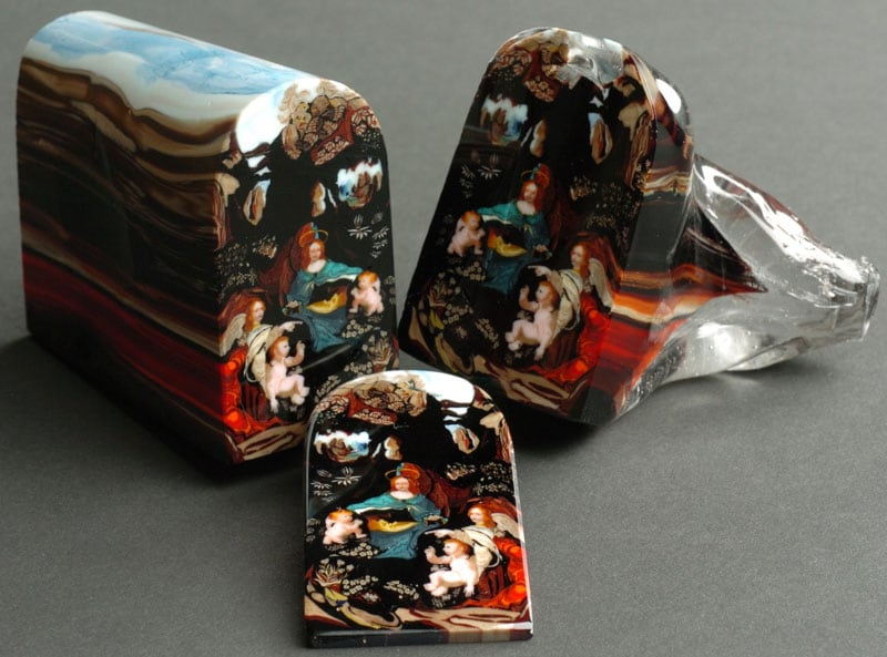 This is Murrine. It's Made of Glass and Can Be Sliced Like a Loaf of Bread -glass