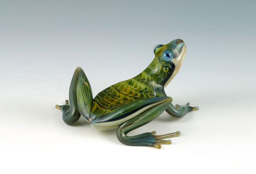 Hand-Blown Glass Creatures Come to Live In Beautiful Sculptures By Scott Bisson -sculptures, handmade, glass
