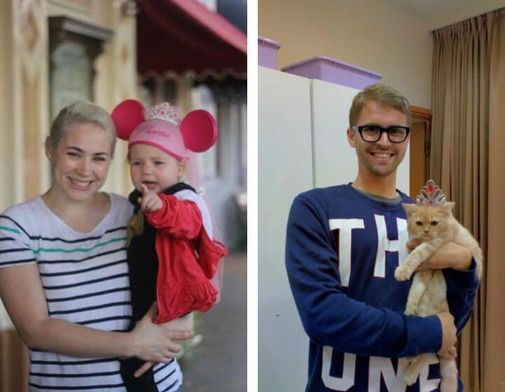 Guy Recreates His Sister's Baby Photos by Replacing Kids With a Cat -photo, cat, babies