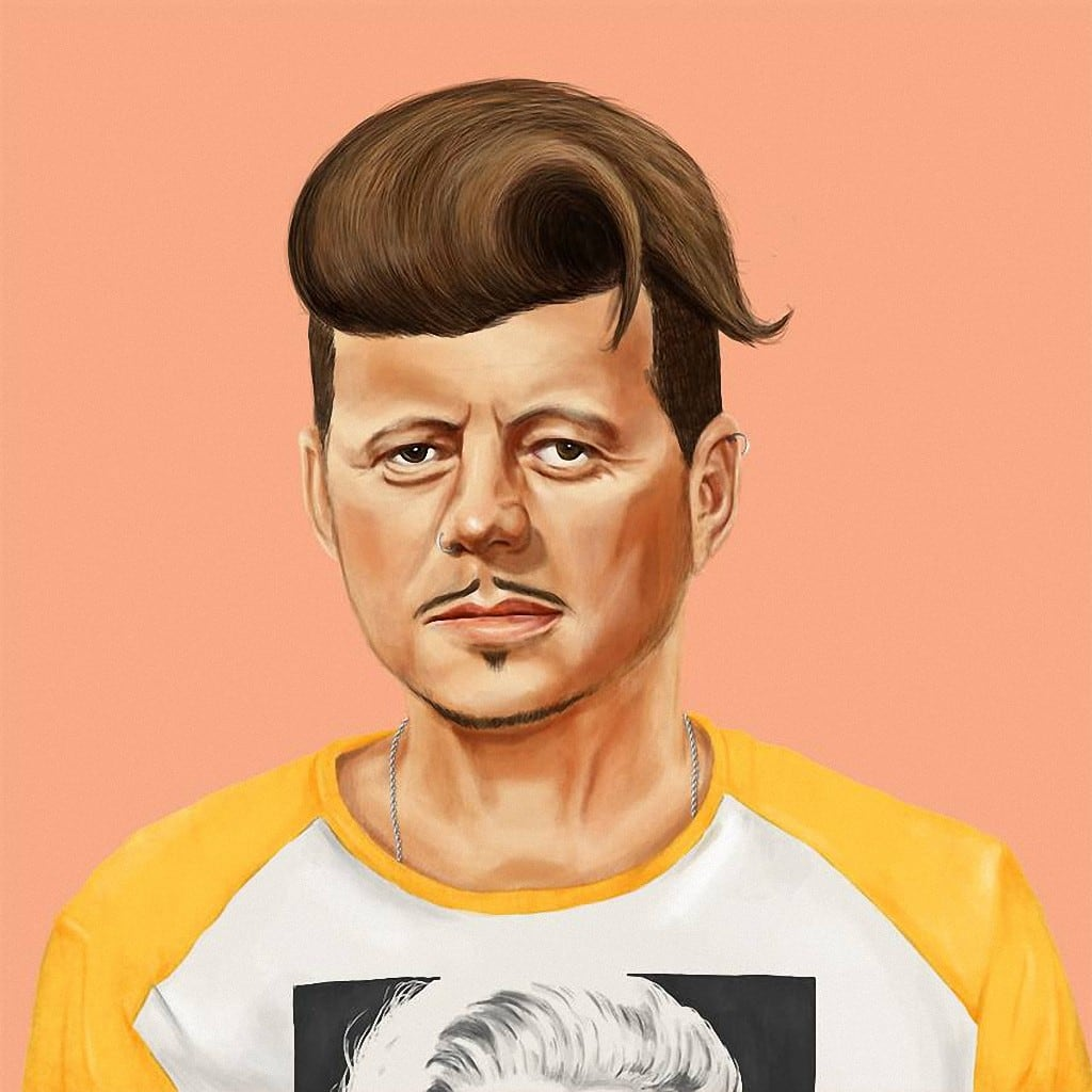 World's Greatest Leaders as Hipsters by Amit Shimoni -photo, hipster, celebrities