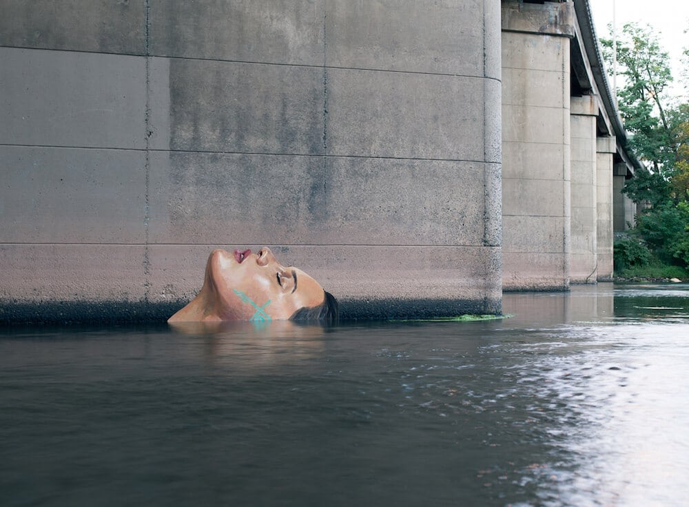 Artist Sean Yoro Paints New Seaside Mural That Changes With Tide Levels -street art, murals, mural