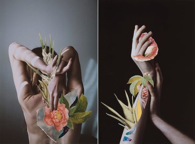 Hypnopompic Floral Collages by Rocio Montoya -girls, collage