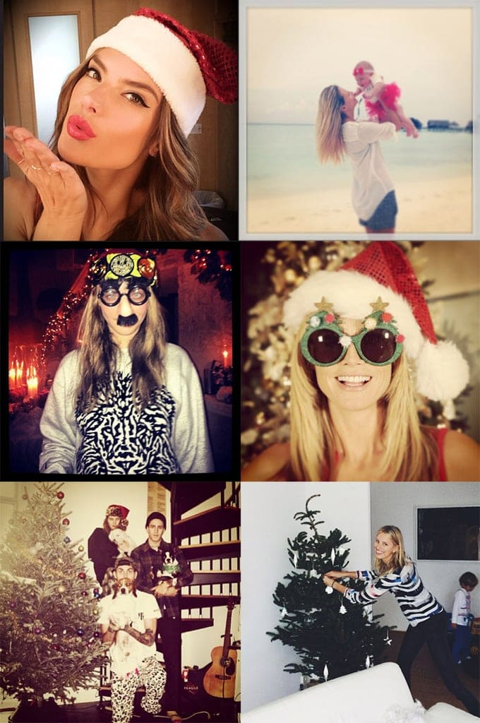 How models Were Celebrating Christmas -models, model, Instagram, famous, Christmas, Cara Delevingne, Alessandra Ambrosio