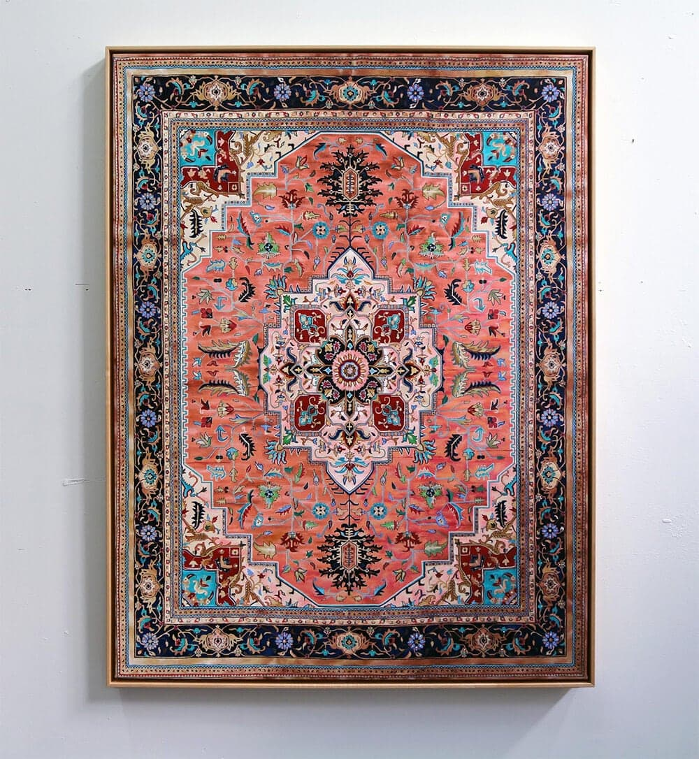 Intricate Hand-Painted Persian Carpets by Jason Seife -rugs, painting