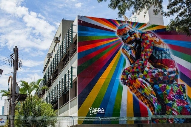 The Thinker - New Mural by Eduardo Kobra in Sao Paulo // Brazil -mural