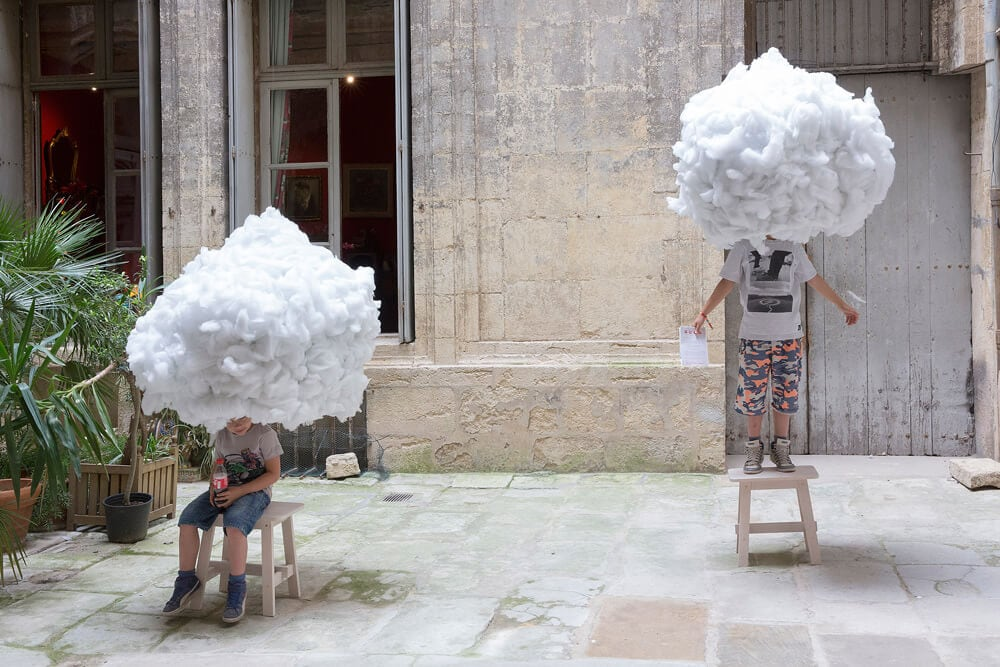 Suspended Clouds Provide a Dreamlike Relaxing Place During the Festival des Architectures Vives -installation, clouds, architecture