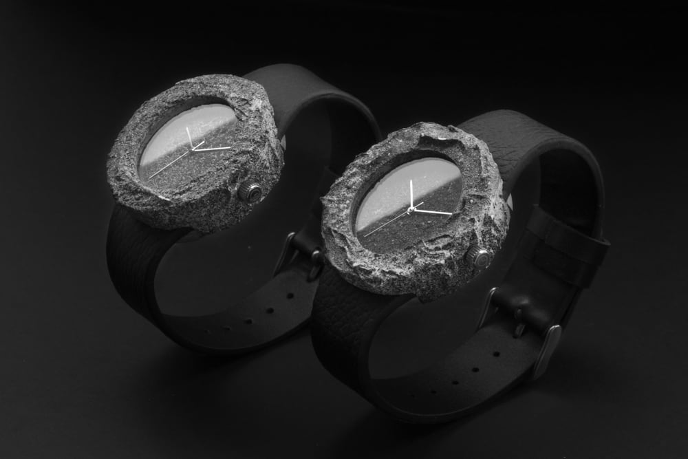 Lunar Watch Made Of A Solid Piece Of Real Moon Rock -watch, moon