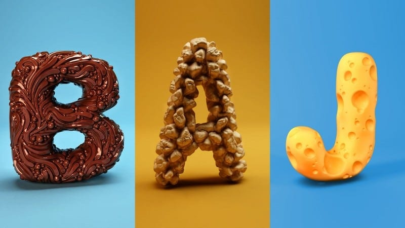 Playful collection of 3D Sculpted Alphabet by FOREAL -alphabet
