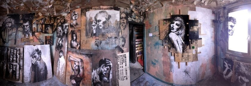 Artist Fills An Abandoned Apartment With Portraits That Pay Tribute To Its Former Residents -Video