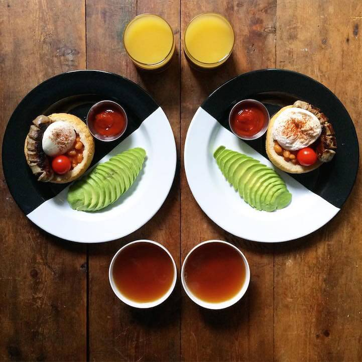 Loving Boyfriend Makes Symmetrical Breakfasts Every Day -photo, LOVE, food, breakfast
