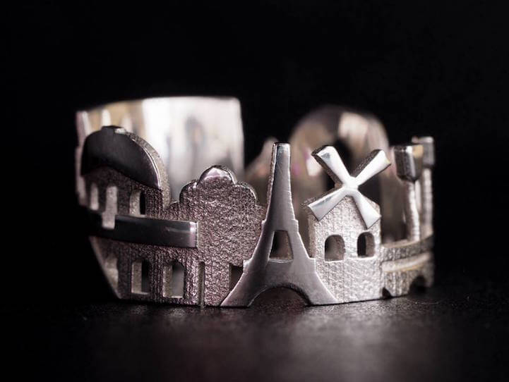 Architecture Rings Celebrate The World's Most Popular Cityscapes -travel, paris, new york, london, jewelry