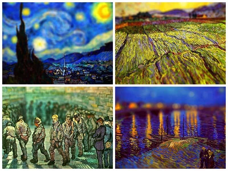Van Gogh's Paintings Get Tilt-Shifted -van gogh, paintings