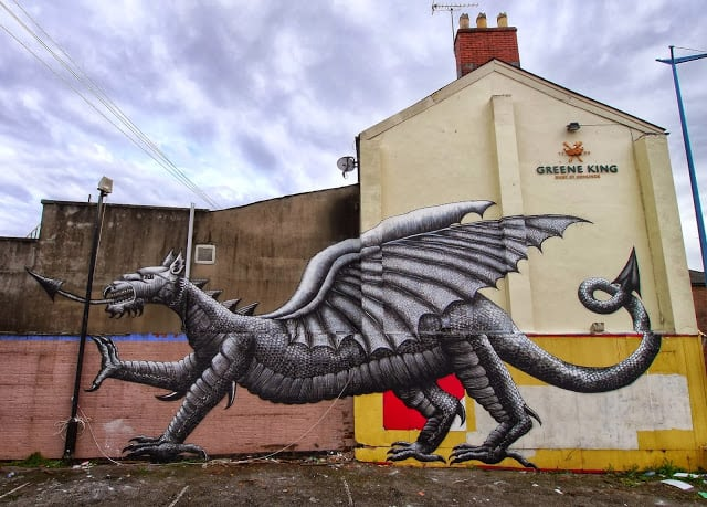 New Mural by Phlegm for Empty Walls Festival 2013, Cardiff / Wales -