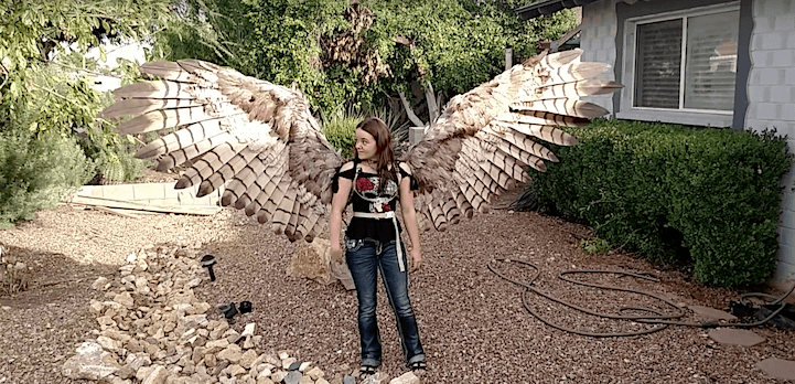 Artist Creates Articulating Pneumatic Wings Fit for a Human -Video, gif