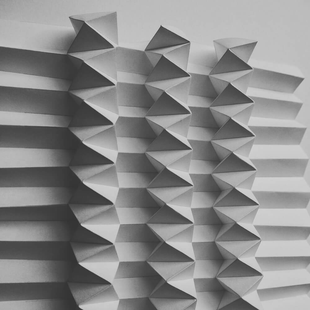 Patterns Formed From Complex Folded Paper by Polly Verity -sculpture, paper, crafts
