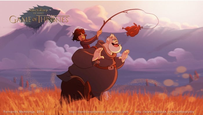 If Game Of Thrones Characters Appeared In Disney Movies -game, disney