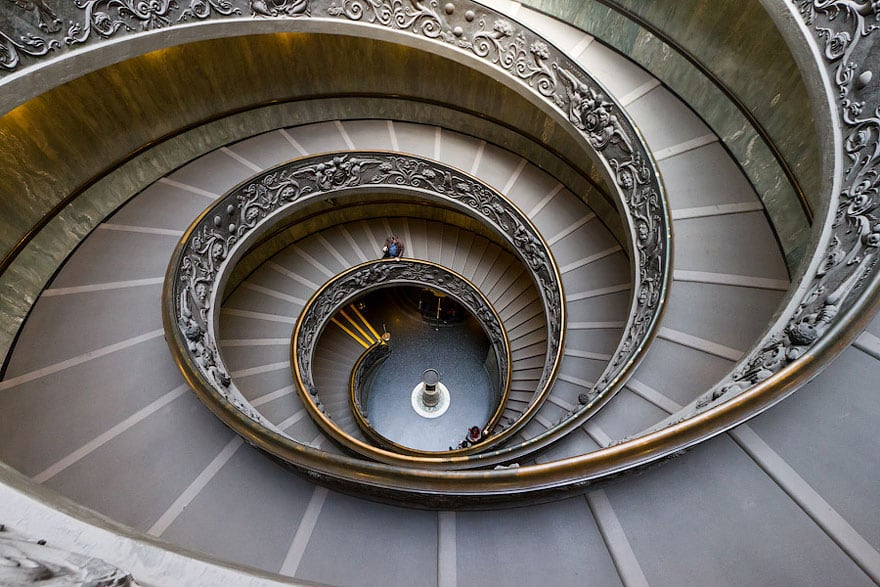 Astonishing Examples of Spiral Staircase Photography -usa, stairs, japan, germany, france, architecture
