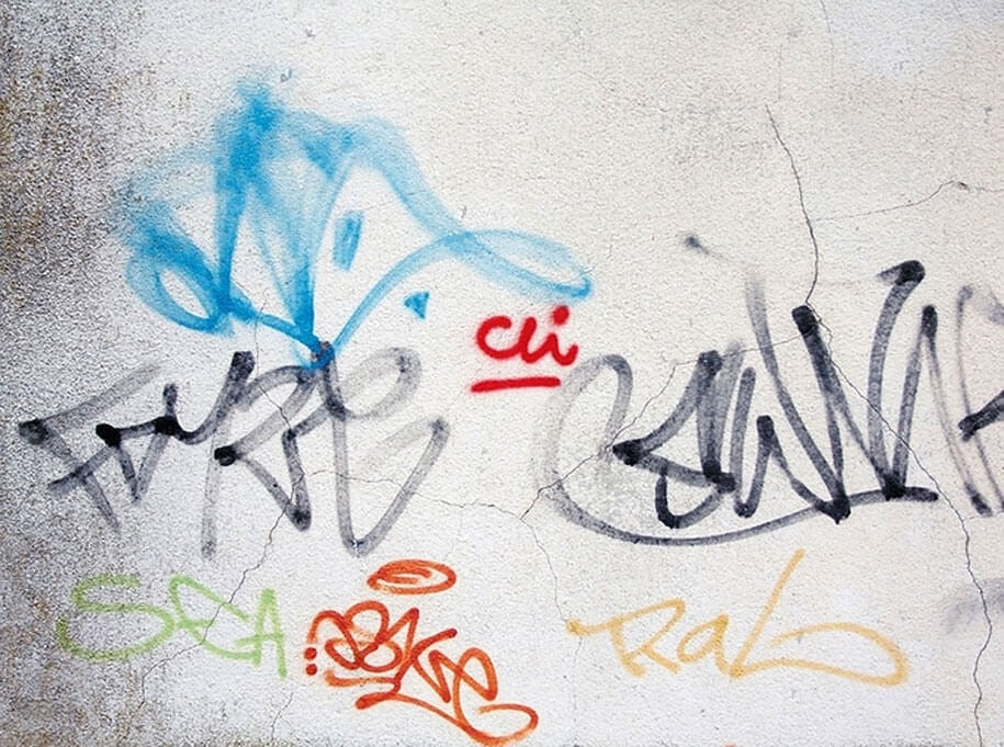 Artist Paints Over Graffiti Tags And Makes It Readable -typography, tags, mural, letters, graffiti