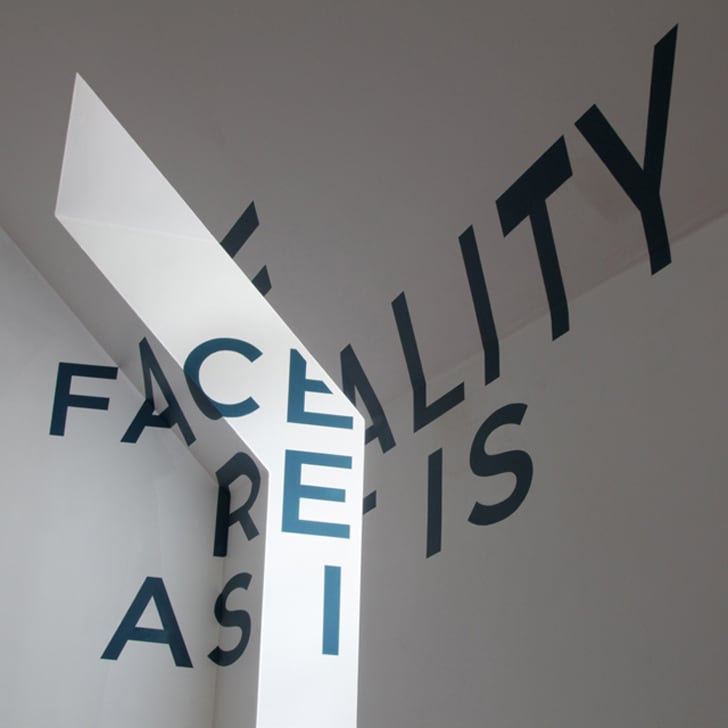 Anamorphic Typography Project 'Face Reality' By Thomas Quinn -typography, project