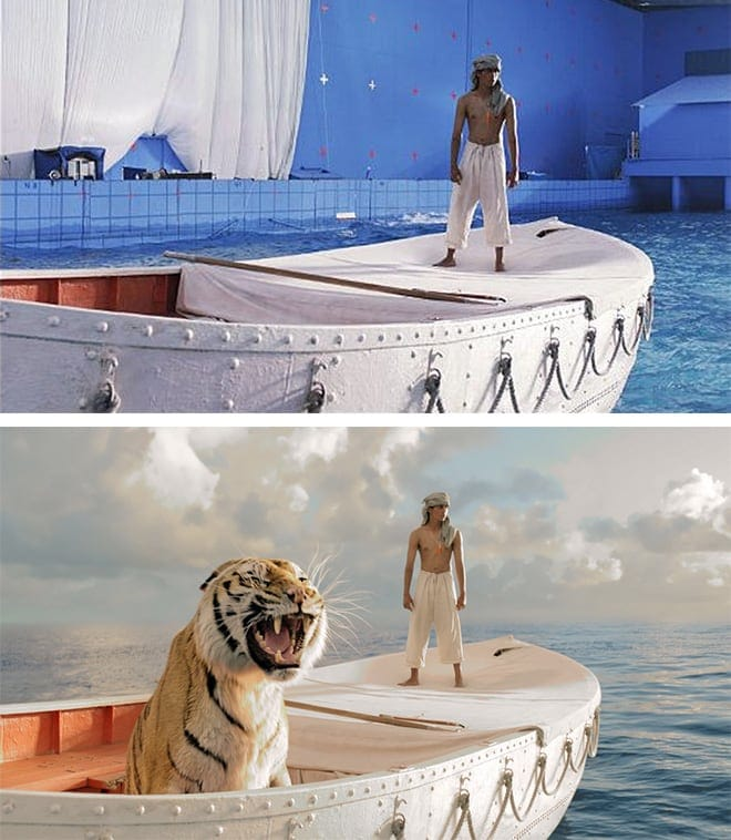 Visual Effects Before-And-After from your favorite Movies and TV Series -Series, movies, cgi, before and after