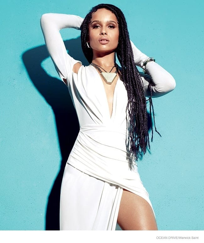 Zoe Kravitz by Warwick Saint For Ocean Drive March 2015 Issue -photo, magazine, Actress