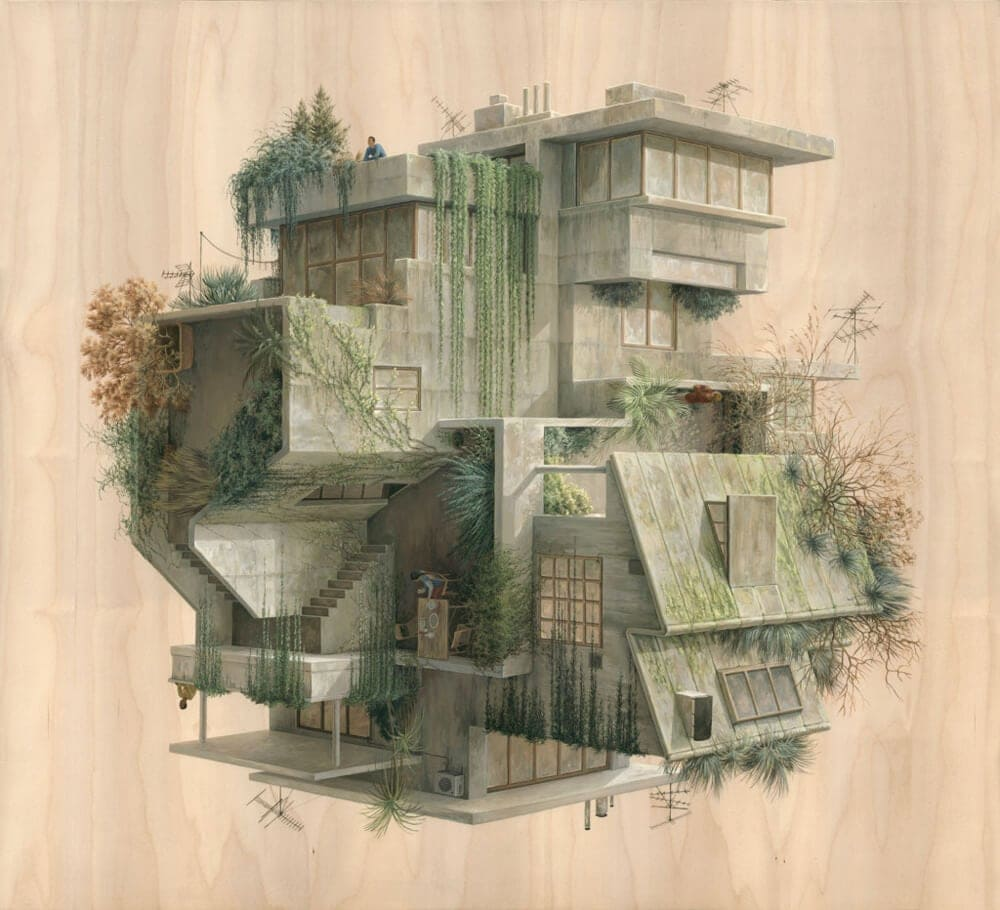 Abstract Architectural Drawings By Cinta Vidal Agull 243