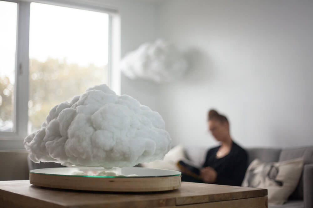 This Bluetooth Speaker Covered as Cotton Cloud That Floats -technology