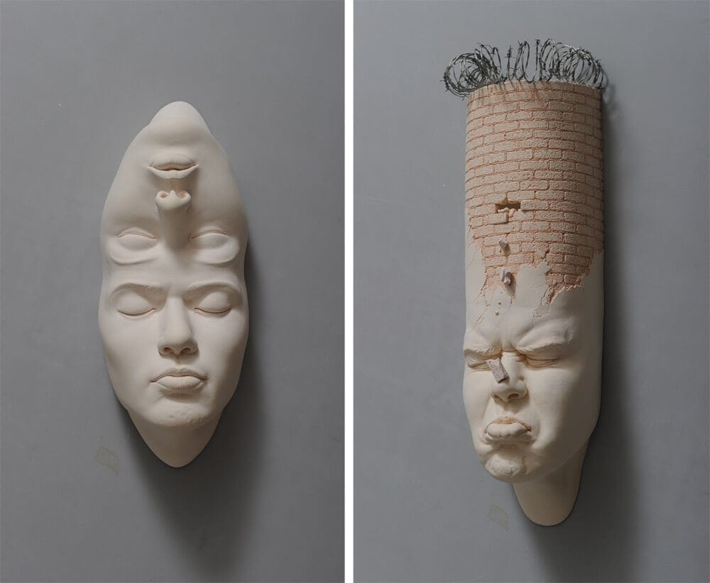 Stretched Porcelain Sculptures by Johnson Tsang -