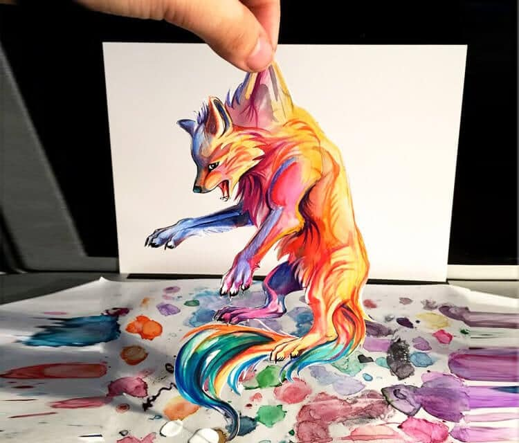 Animal Paintings Exploding with Colorful Spirit by Katy Lipscomb -painting, drawing, animals