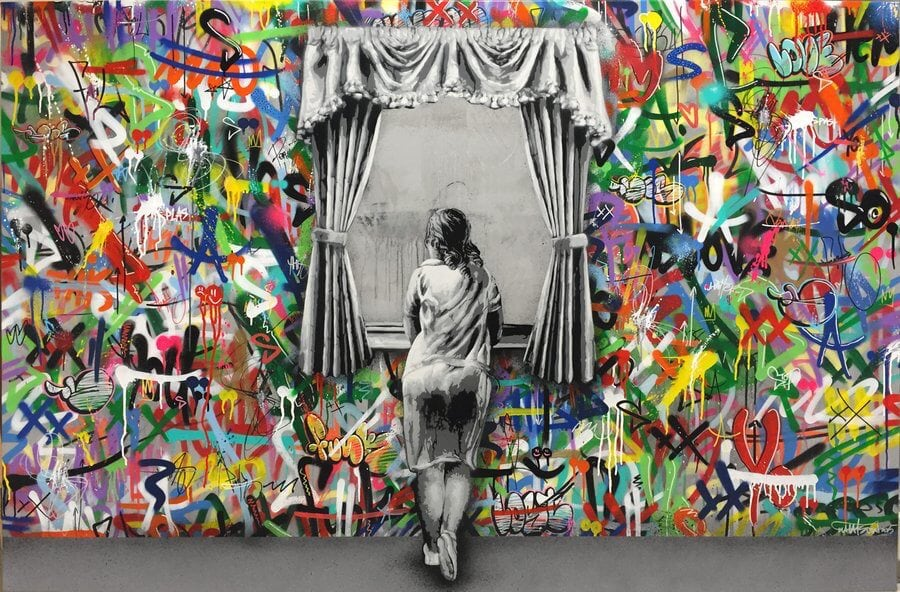 Stencil Art by Martin Whatson -mural, graffiti
