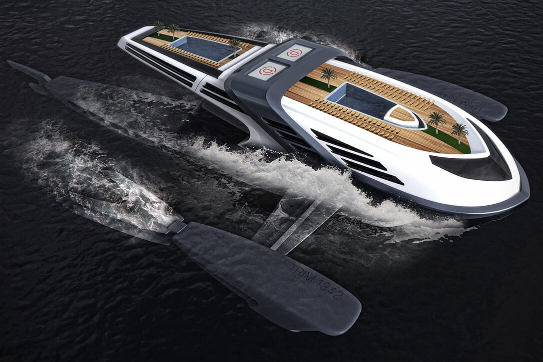 Seataci Concept Yacht Imitating The Behavior Of a Whale -yacht, sea