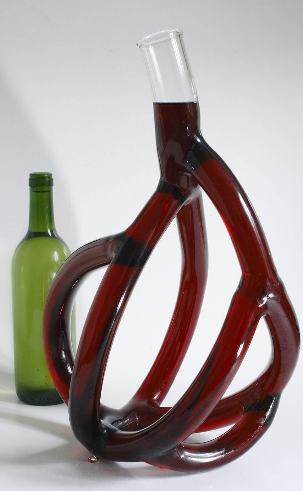 Hand-Blown Glass Wine Decanters by Etienne Meneau -wine, sculpture, glass, anatomy