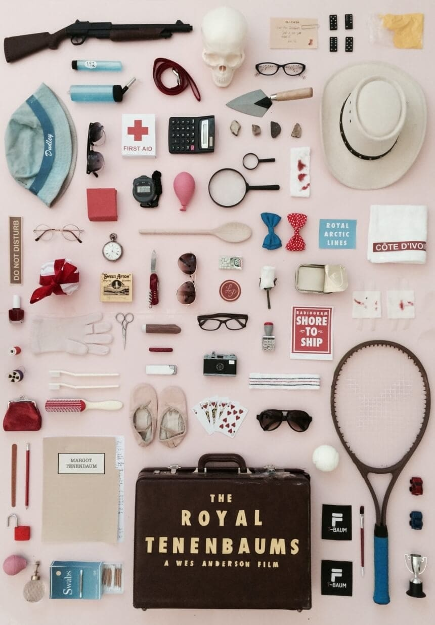 Artist pays Tribute to Wes Anderson movies by designing posters of props -wes anderson, posters
