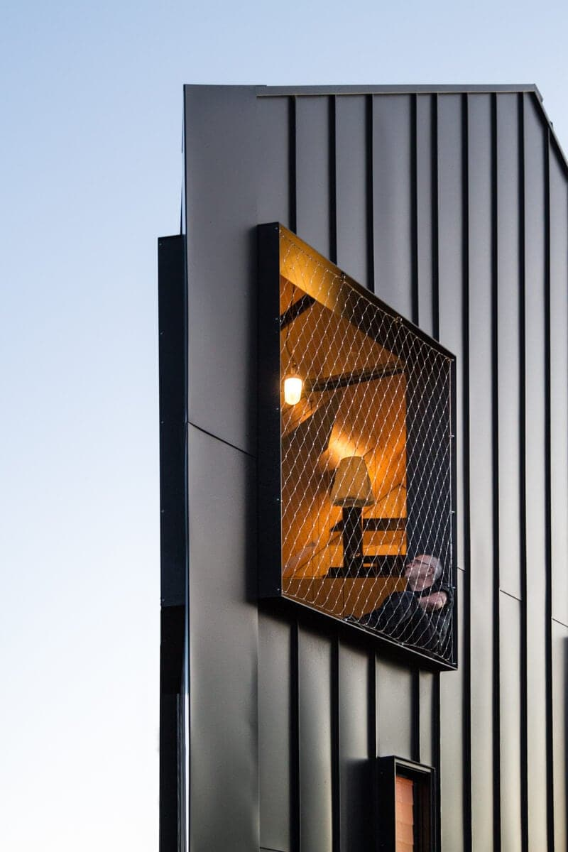 Triangular Modern Family Home Alternatively to Victorian Weatherboard Cottage -house