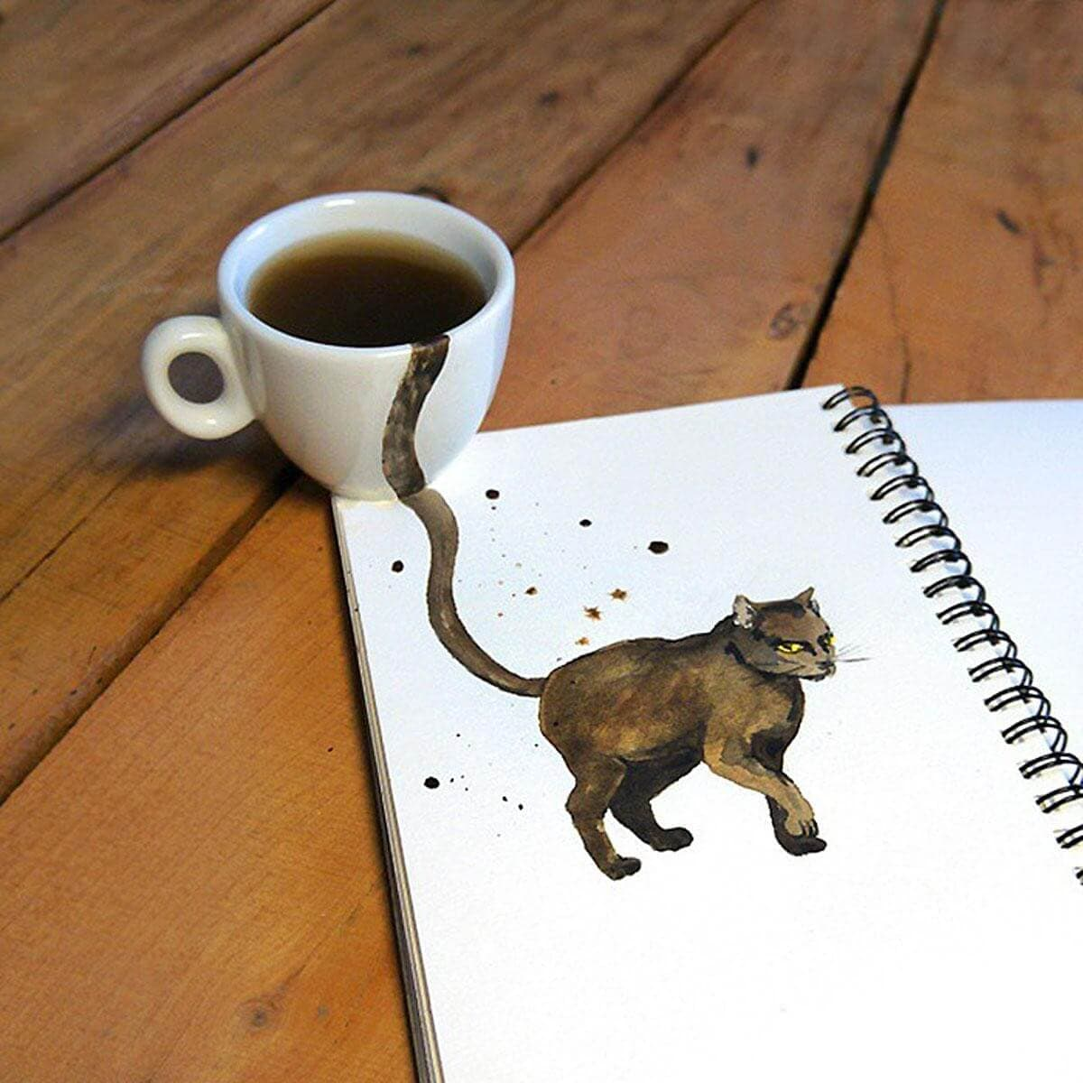 Elena Efremova 4 - Charming Coffee-Colored Cats Popping Out Of Cups