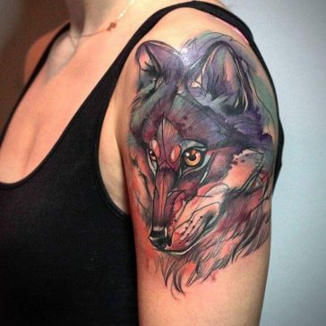 Whimsical Animal Tattoos Look Like They're from Enchanting Storybook -watercolor, tattoos, tattoo, animals
