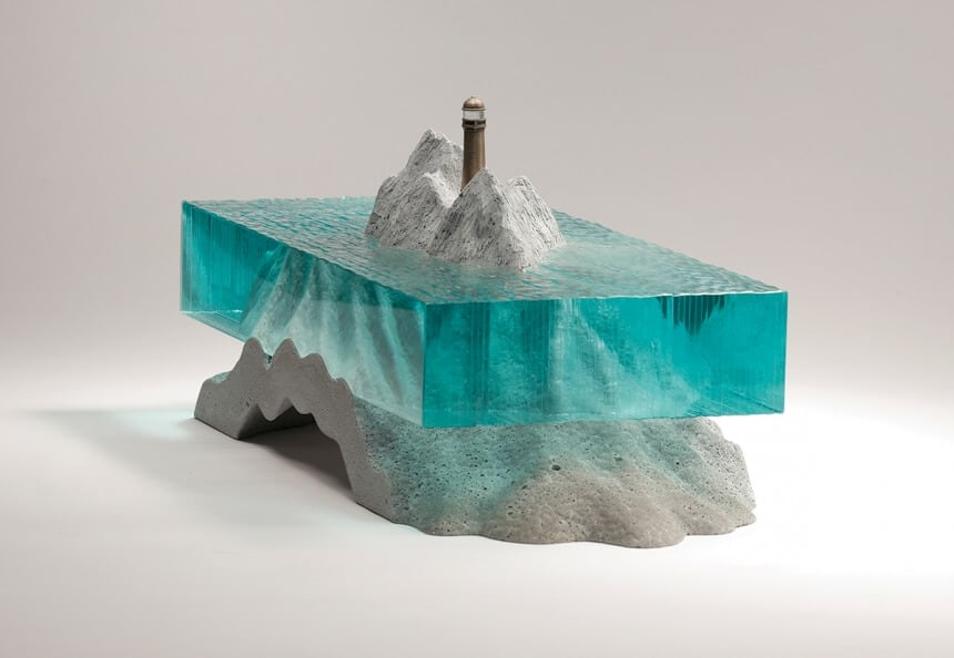 Layered Glass Sculptures by Ben Young that Superbly Capture the Beauty of Ocean -sculptures, gotrend