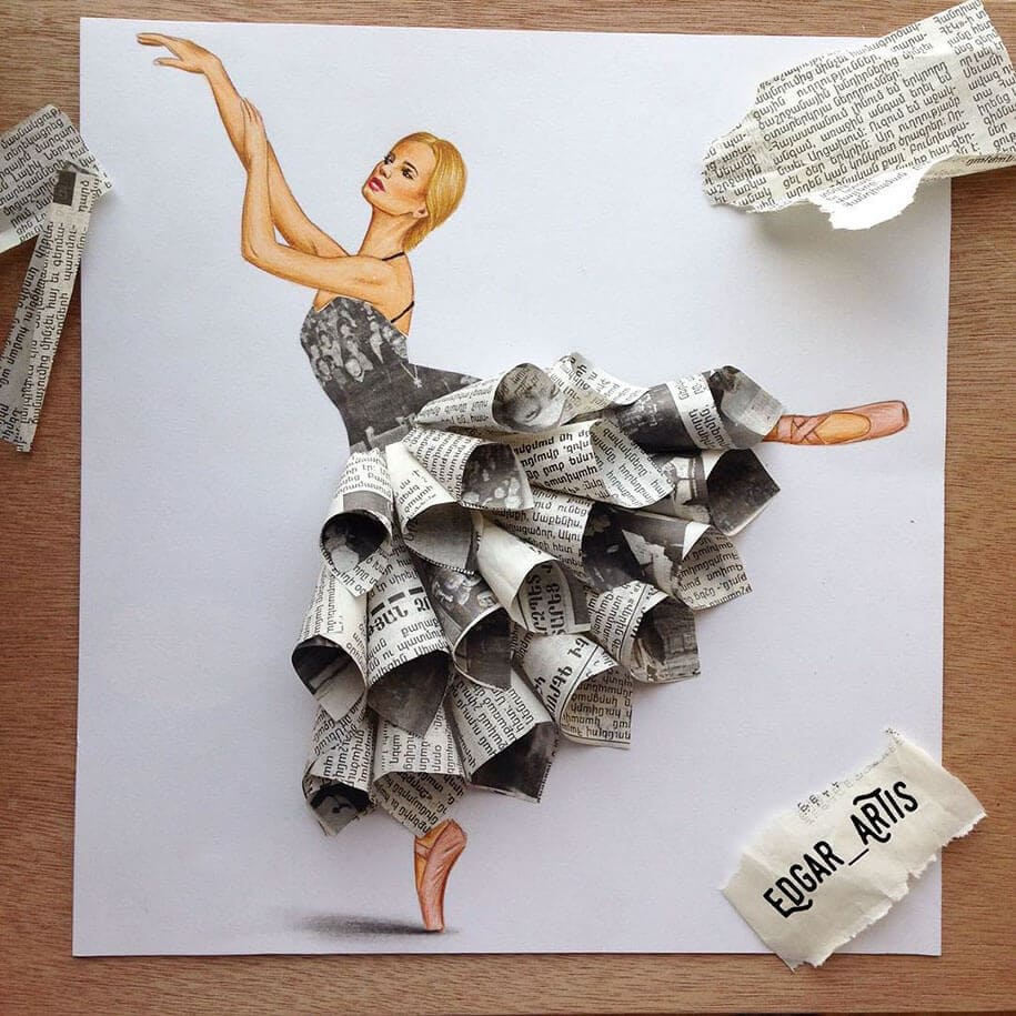 Artis Design : This artist creates marvelous dress designs using everyday