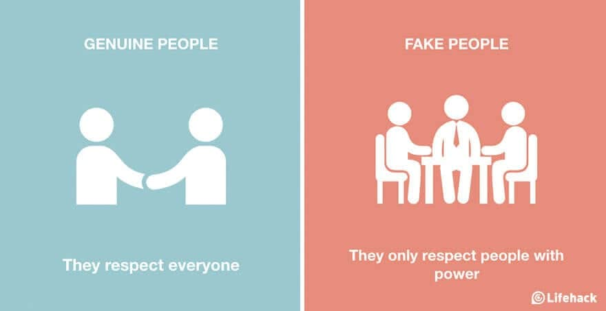 Fake Nice People Vs Genuine: How To Identify Them -illustrations
