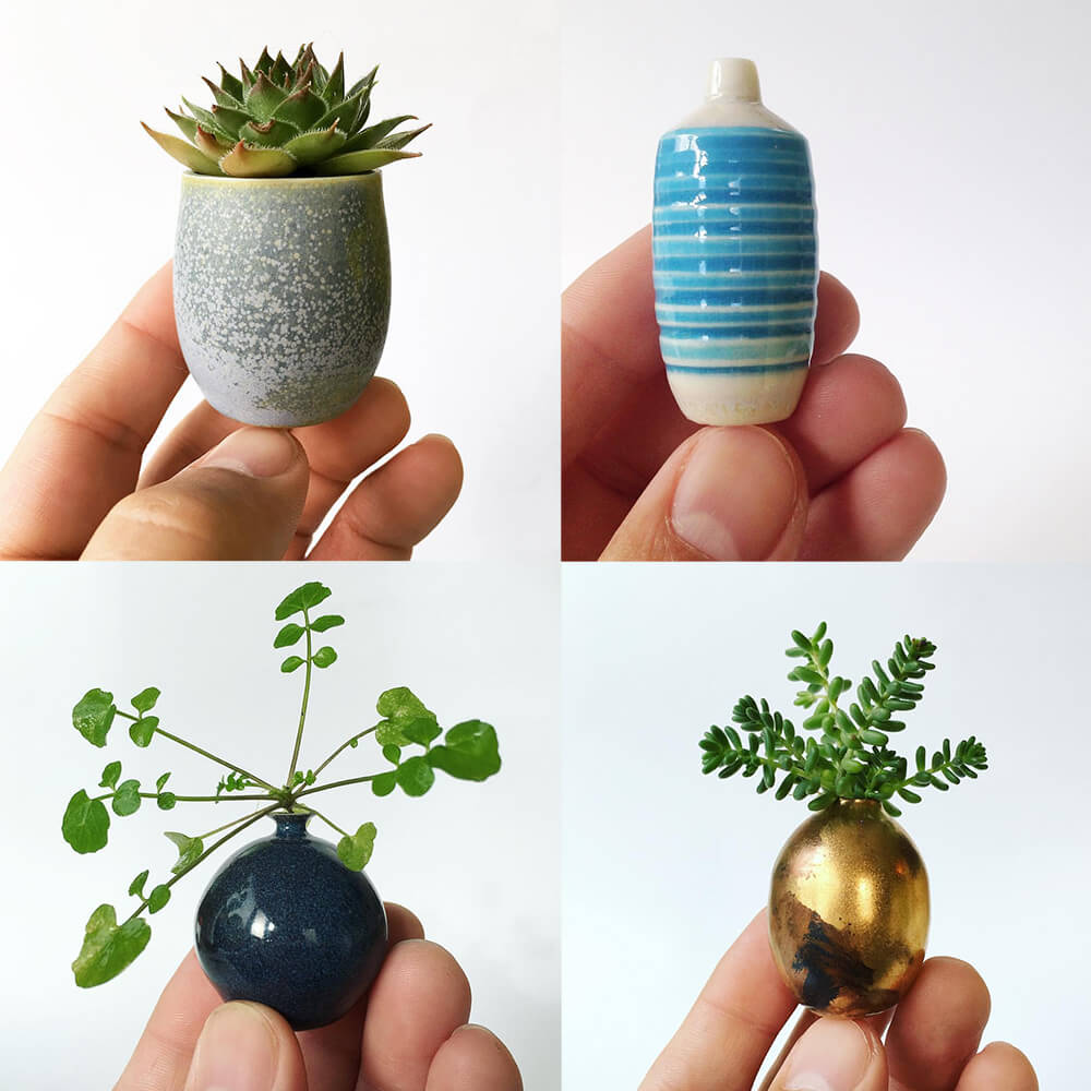 Miniature Hand-Crafted Ceramics by Jon Almeda -miniature, crafts, ceramics