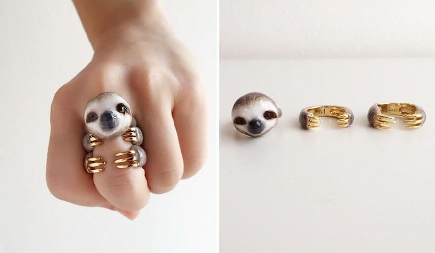 3-Piece Rings That Become Animals When All Pieces Are Put Together -rings, jewelry