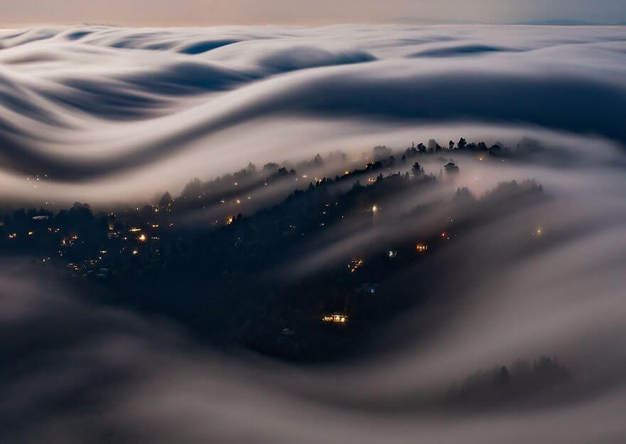 Surreal Photos Capture the True Beauty of Rolling Fog Waves -waves, nature photography, full-page, fog