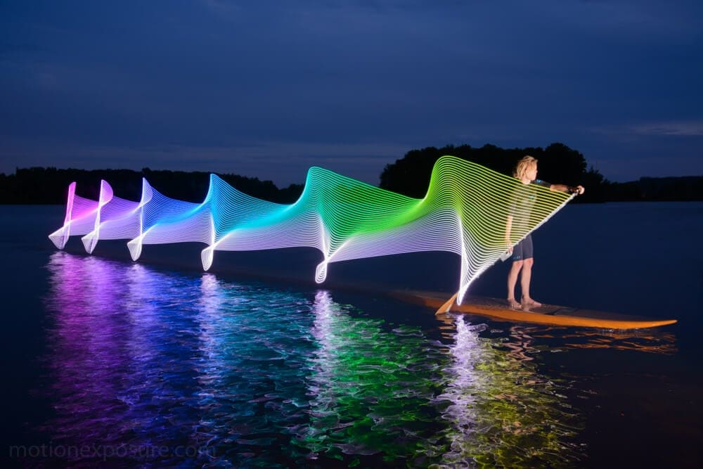 Light Paintings That Capture the Movement of Kayaking by Stephen Orlando -water, Light Painting