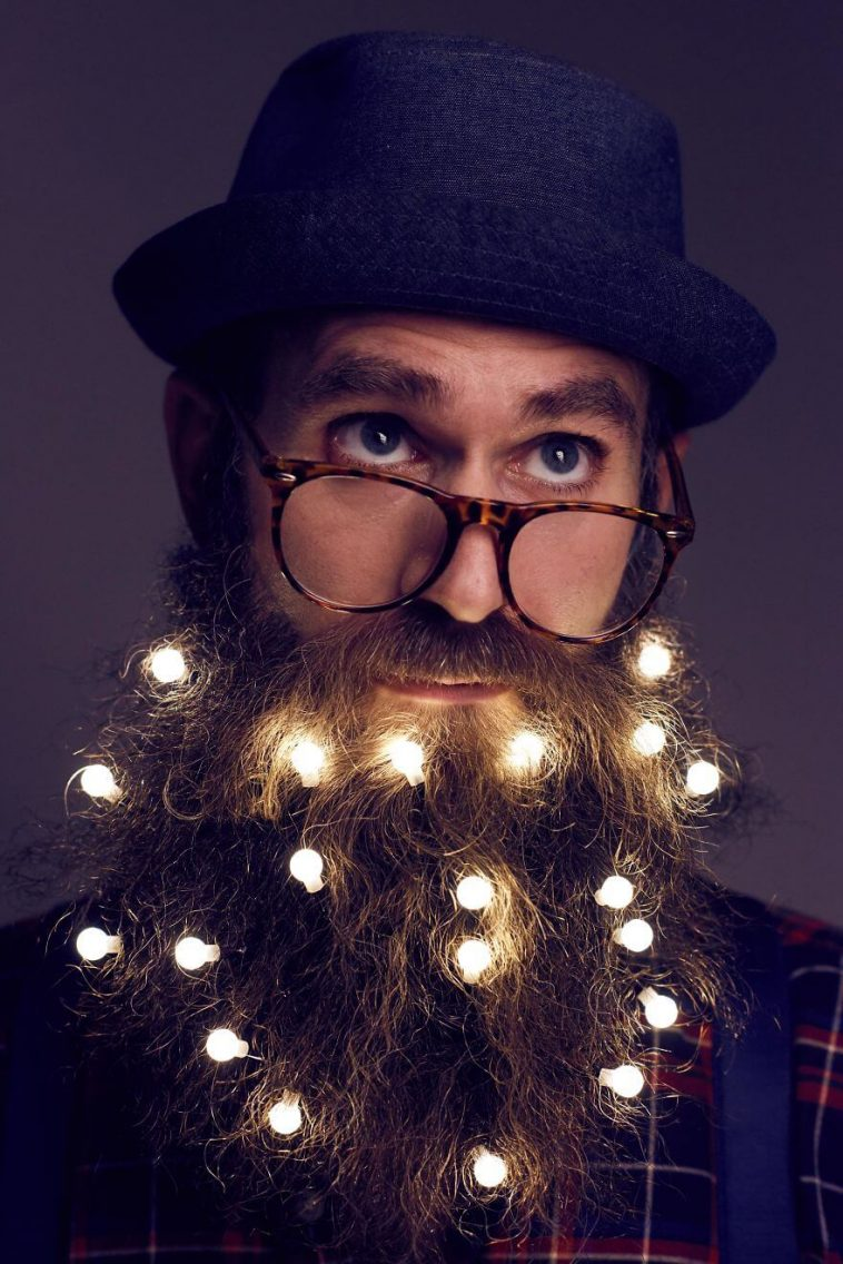 Men in London Are Turning Their Beard Into A Christmas Tree -full-page