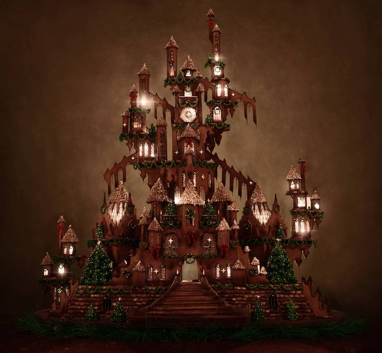 Christine McConnell Sculpts Large 5-Foot-Tall Gingerbread Castle Unlike Any Other -house, Christmas