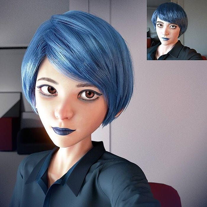 3D Artist Creates Cartoon Version of Random People -portraits, illustration, hyper-realistic, digital art