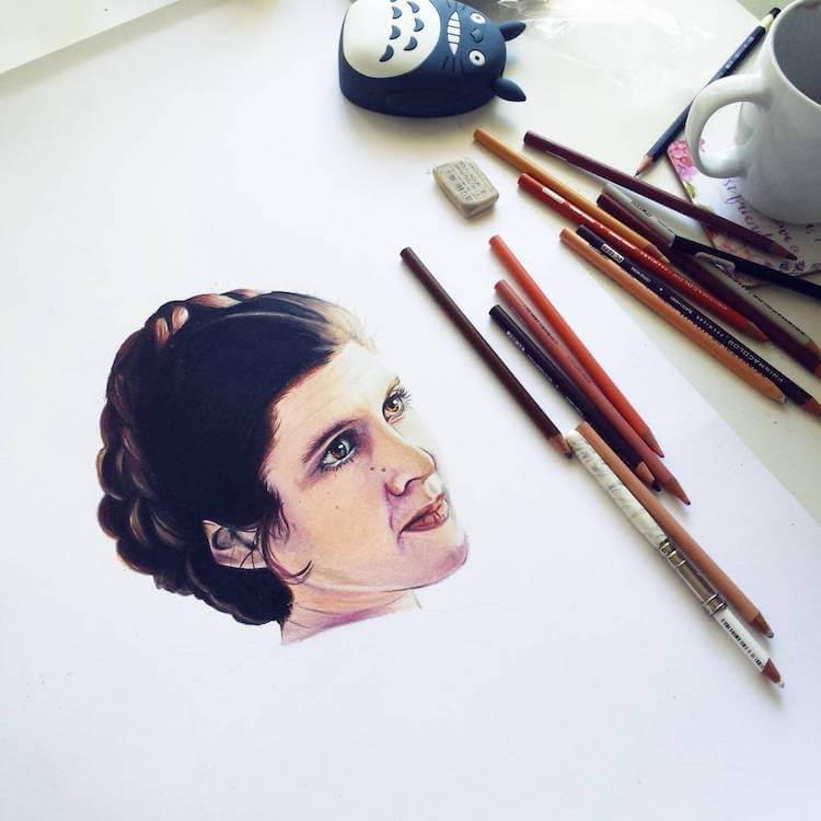 Artists Around the World Pay Tribute to the Legendary Carrie Fisher -Star Wars