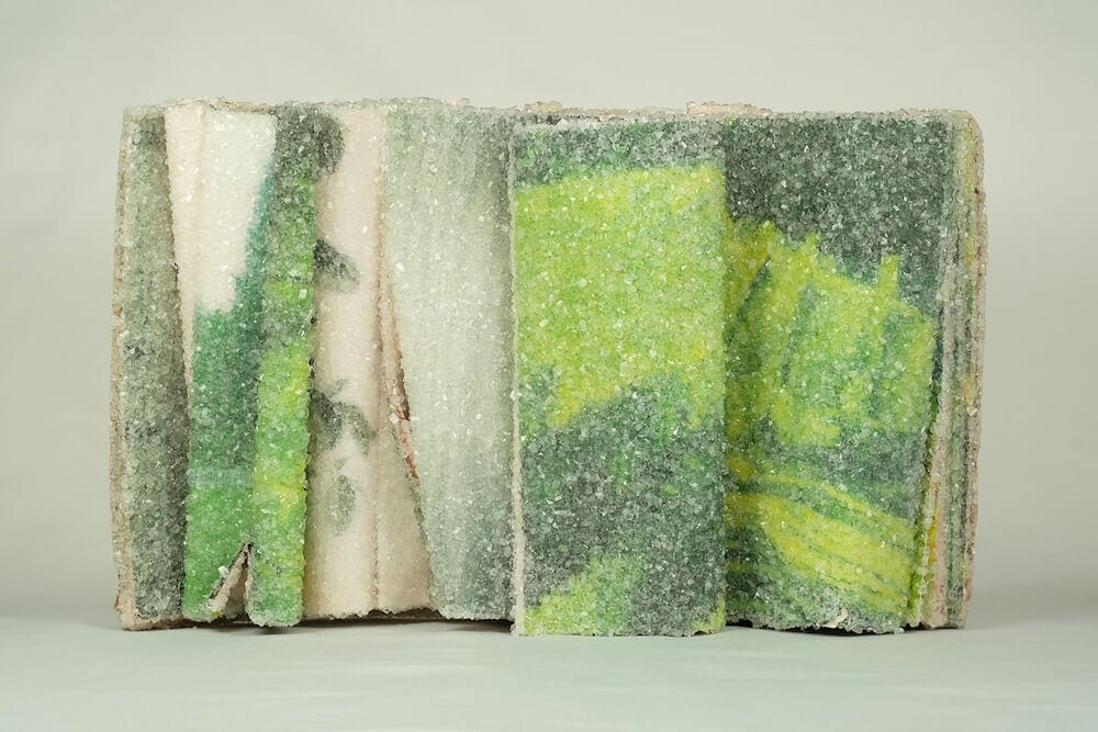 AlexisArnold16 02 - Artist Alexis Arnold Transforms Old Magazines Into Crystallized Sculptures