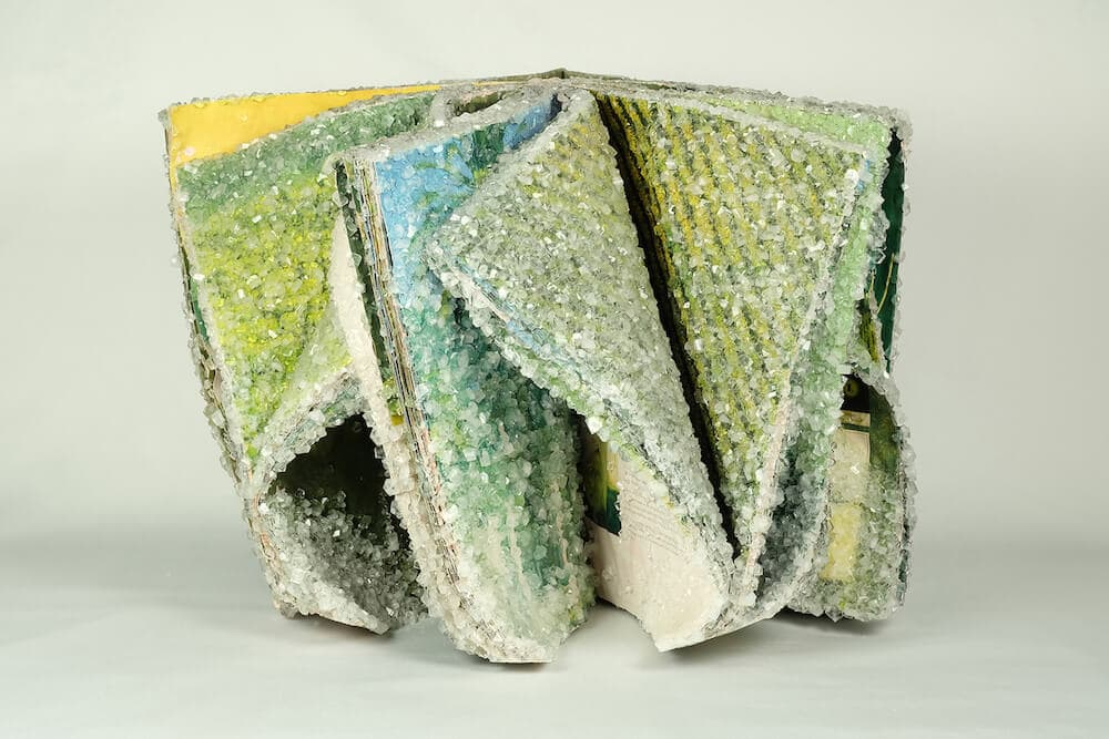 AlexisArnold16 03 - Artist Alexis Arnold Transforms Old Magazines Into Crystallized Sculptures